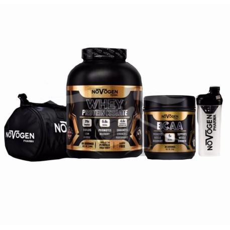 Novogen Isolate + BCAAs + Shaker + Bag